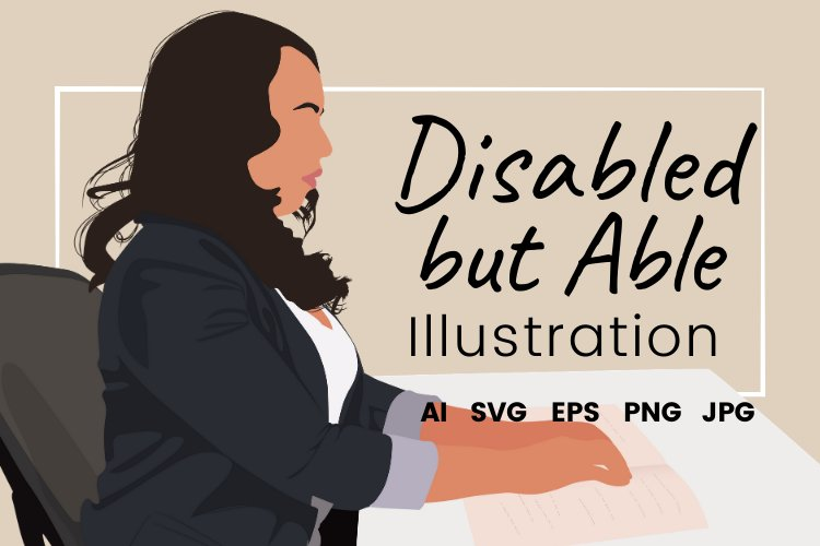 Disabled but Able Vector Illustration example image 1