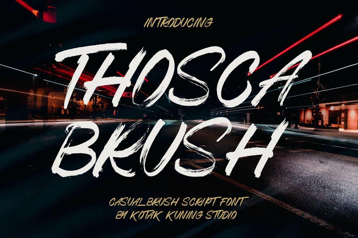Thosca Brush - Display Brush Font example image 1