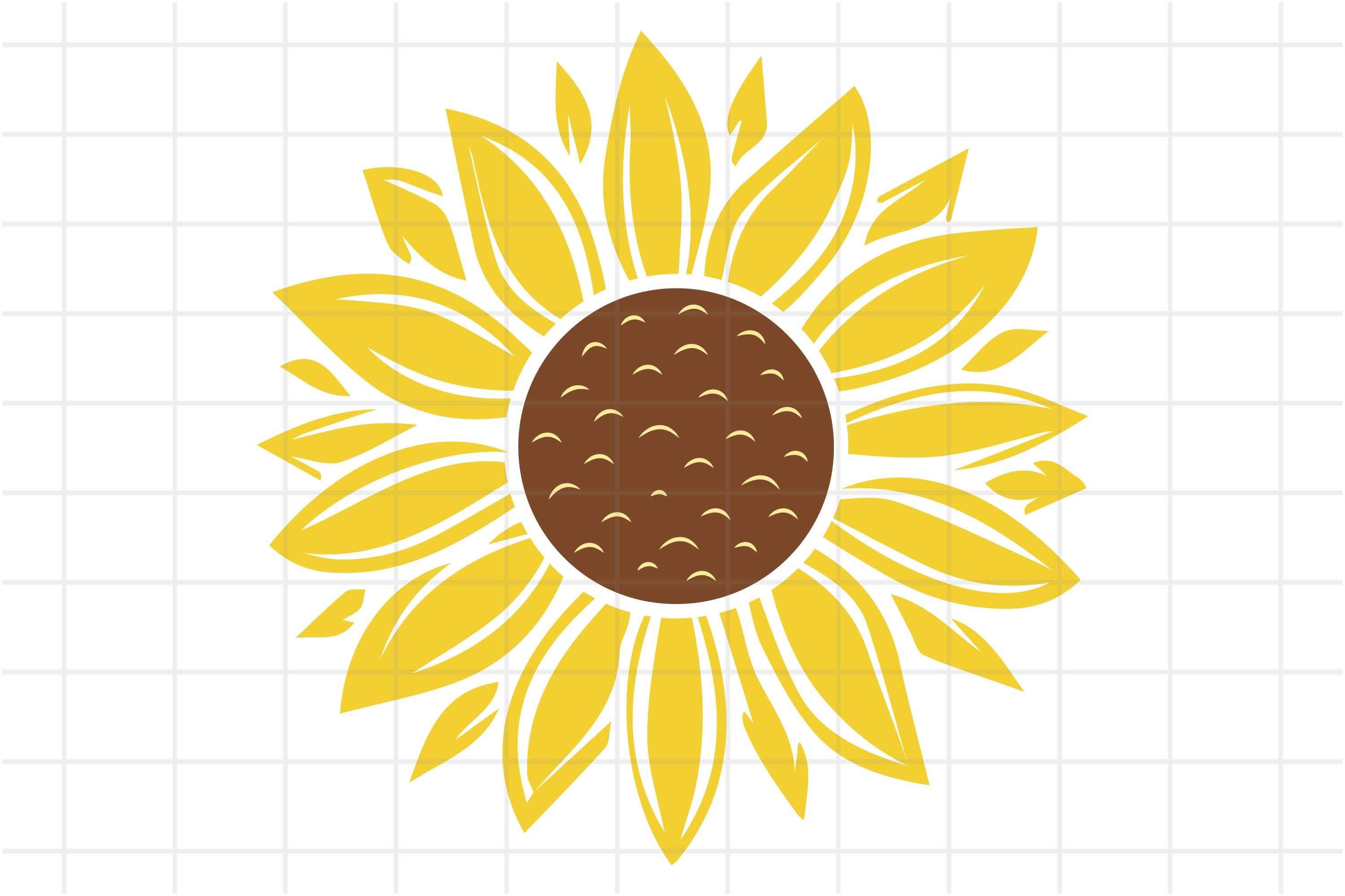 Download Sunflower SVG and PNG cut file for Cricut (656819) | Cut ...