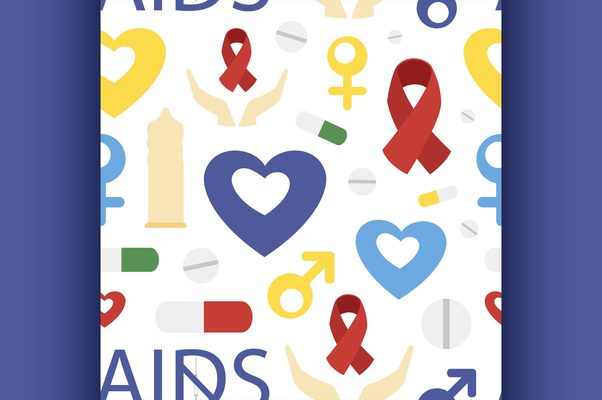 Aids day set pattern example image 1