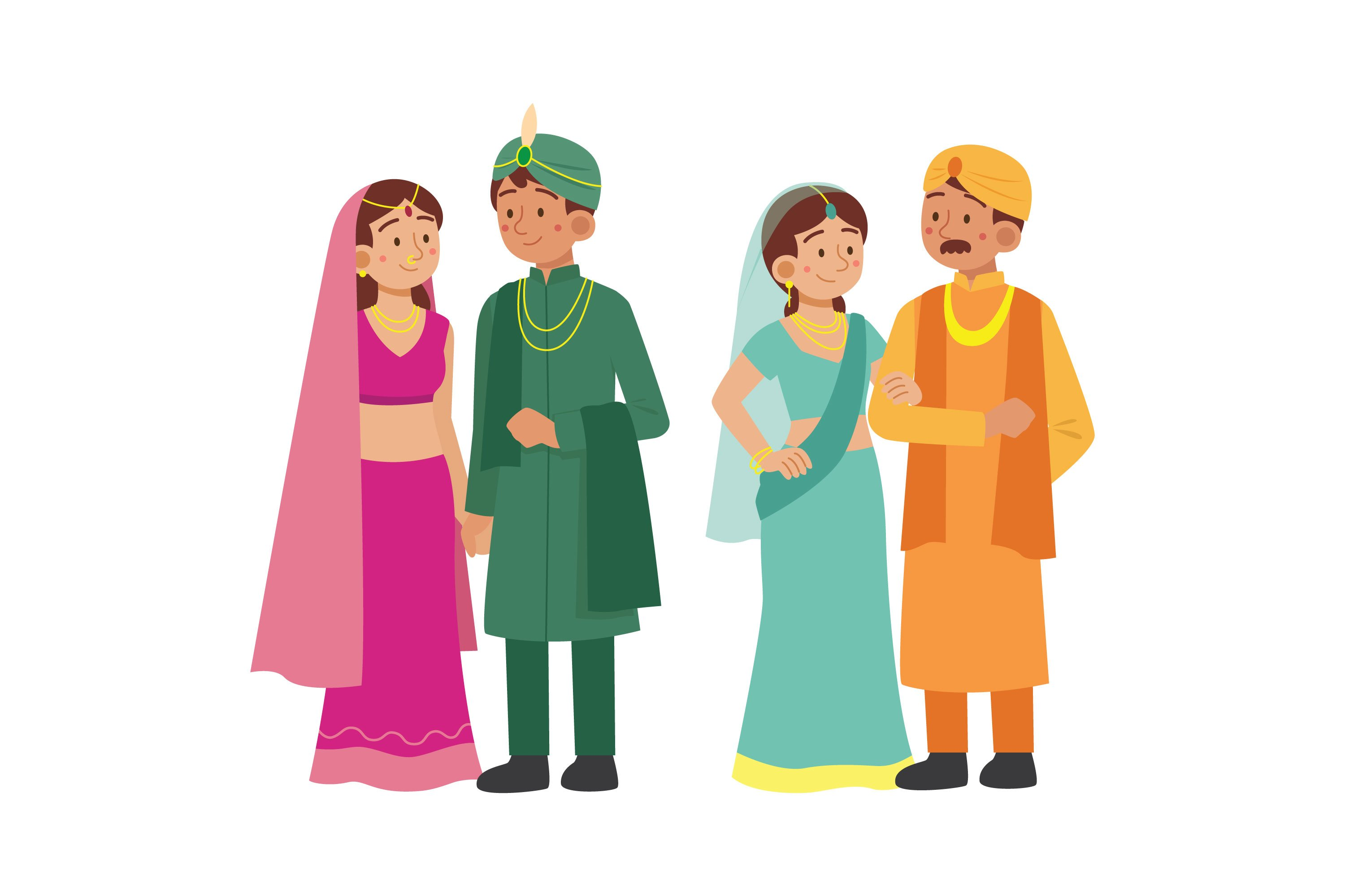 Indian Wedding Character Collection example image 1