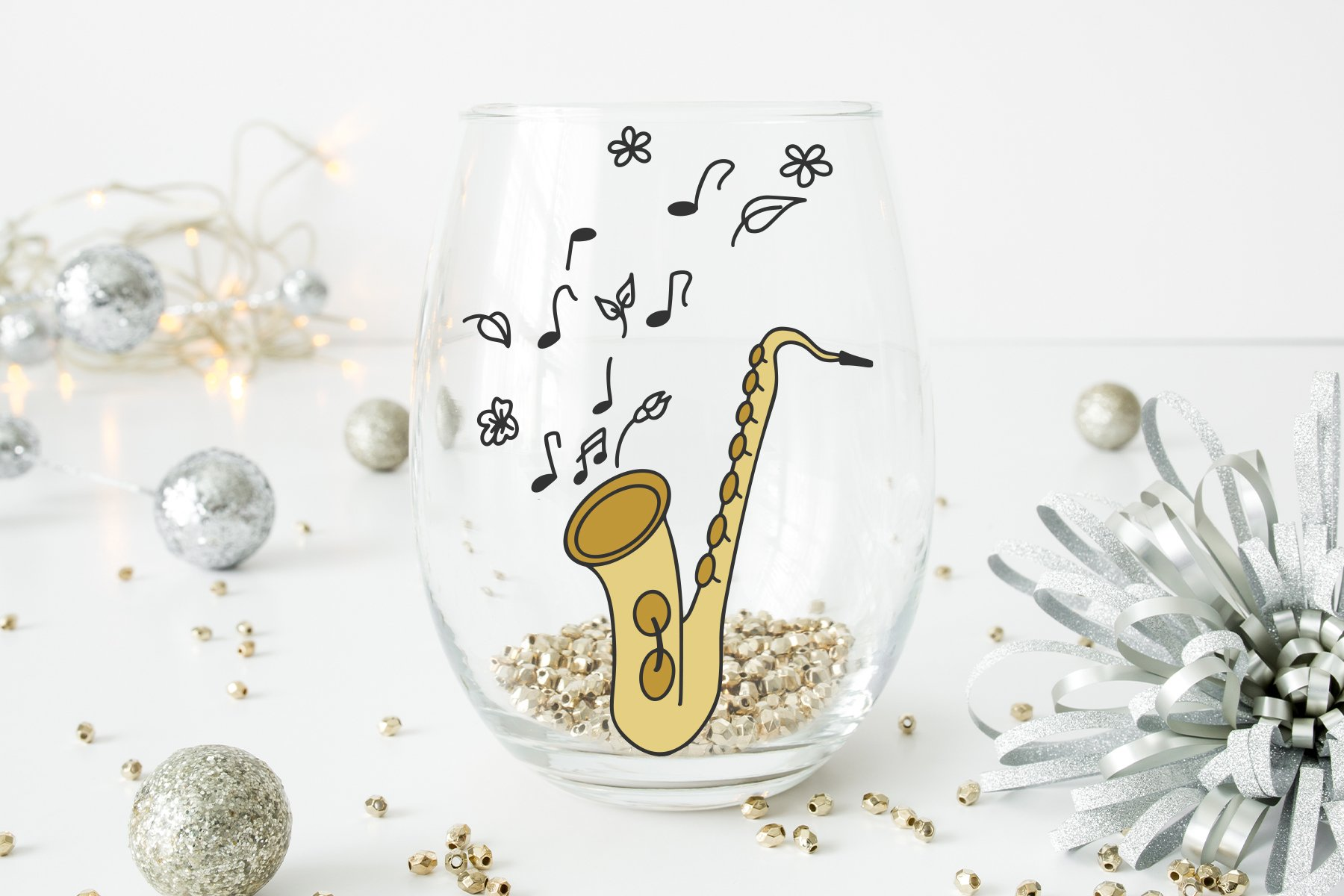 Saxophone SVG | Jazz Music SVG example image 2