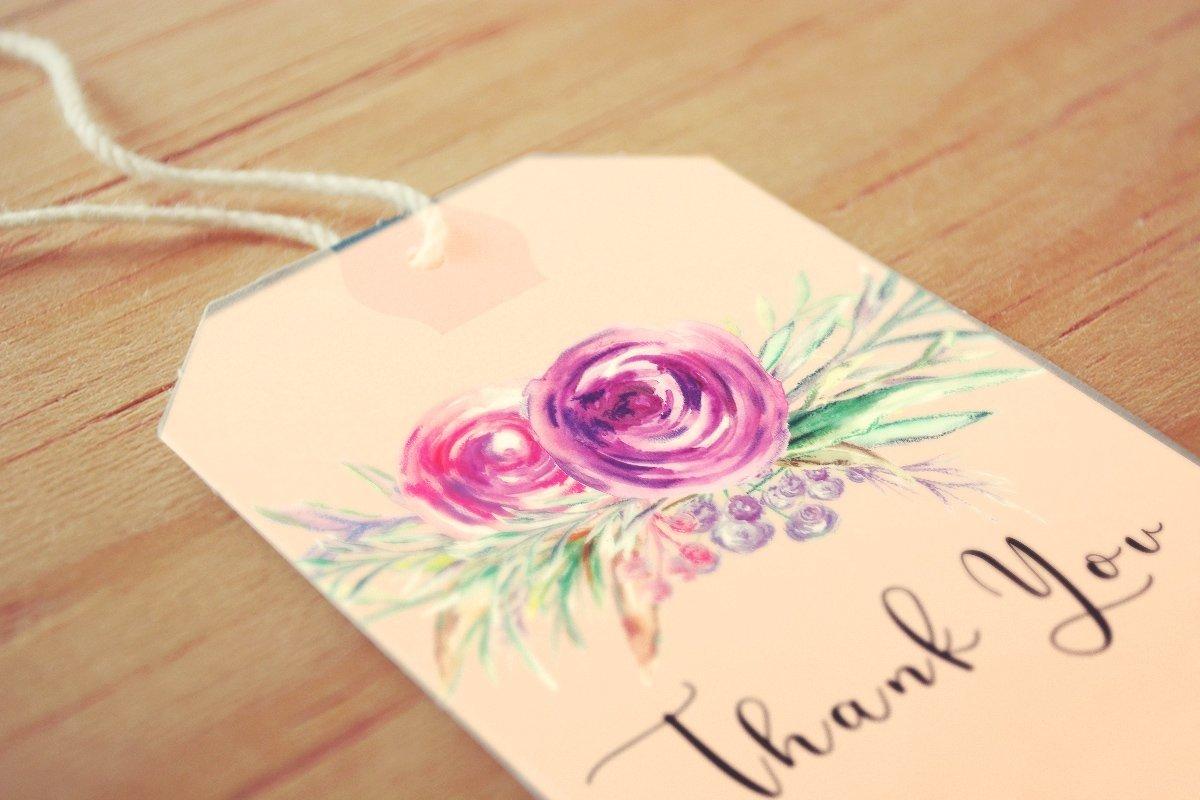 Nadila Watercolor Florals example image 3