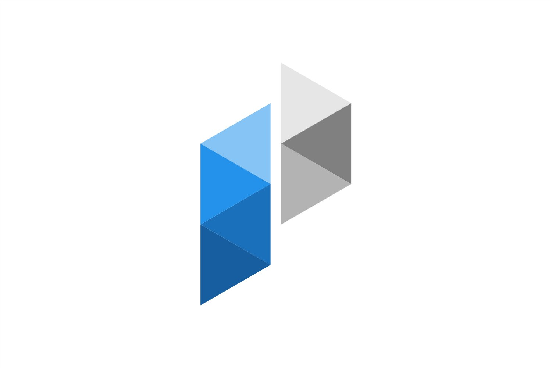 initial p low poly logo 543503 logos design bundles initial p low poly logo
