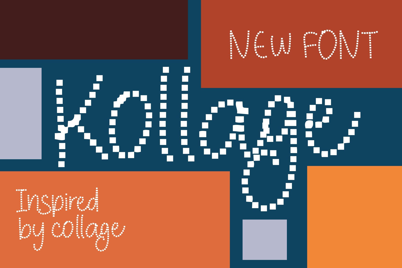 Kollage - Pixel Fonts example image 1