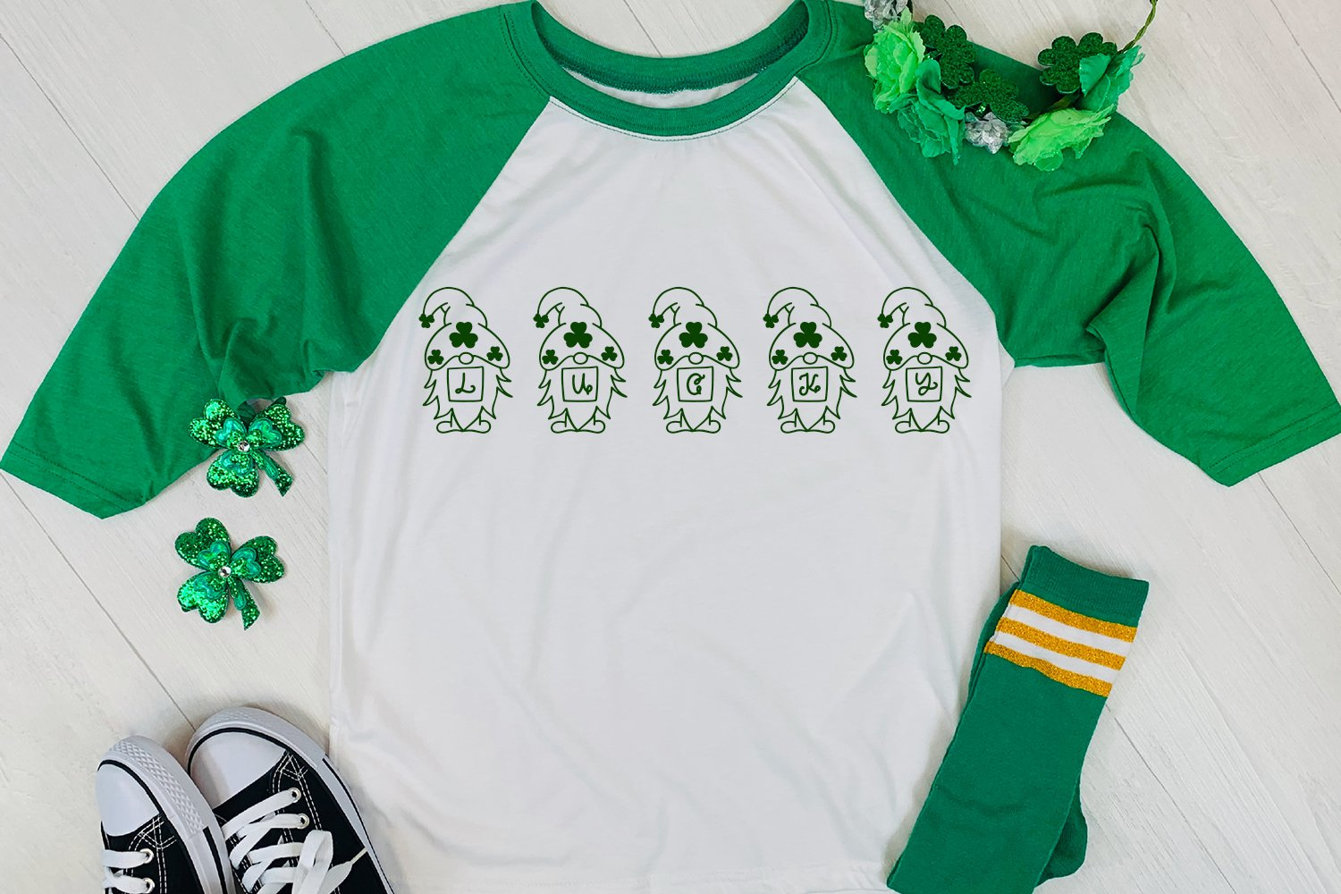 Lucky Gnomie - A St. Patrick's Day Monogram Font example image 3