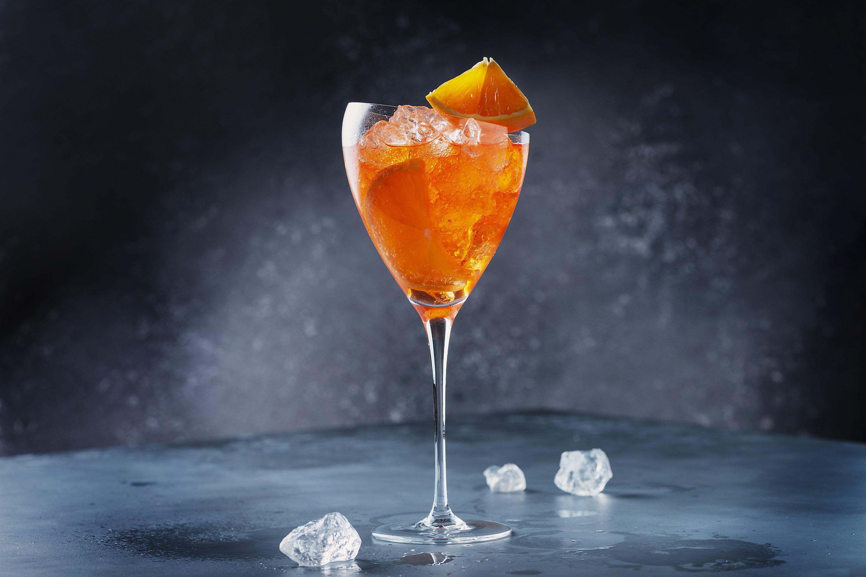 Traditional Italian aperitif Aperol Spriz with orange example image 1