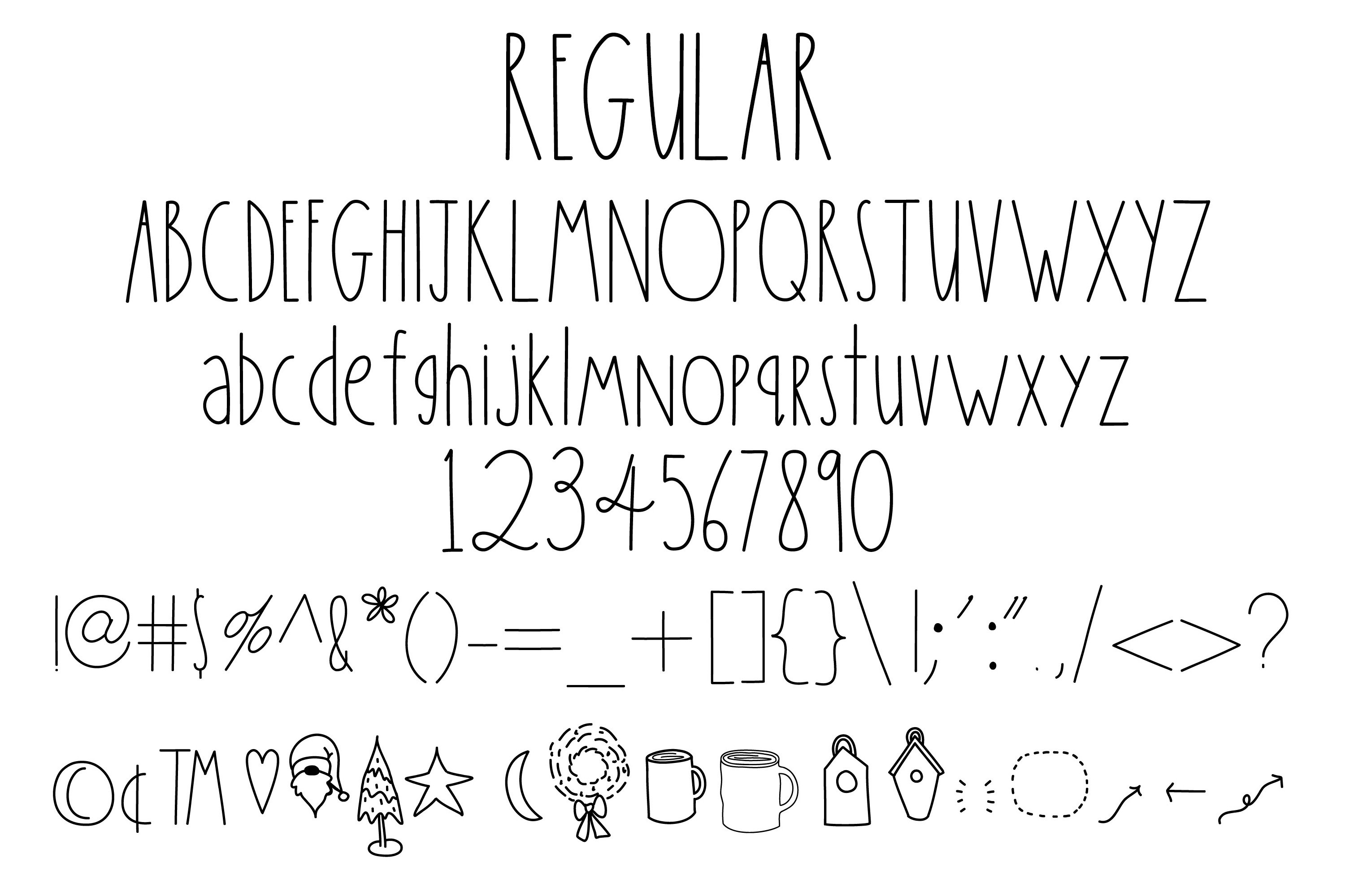 Simply Done Write Farmhouse 3 Weights Font Family & Dingbats example image 2