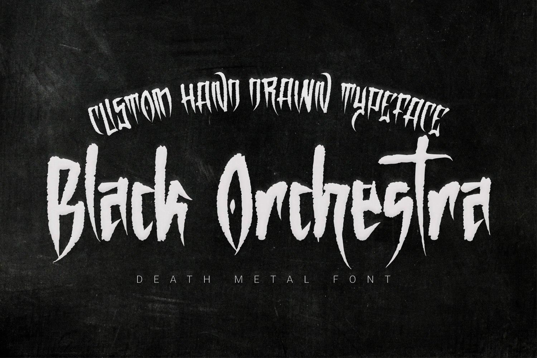 Black metal font tattoo