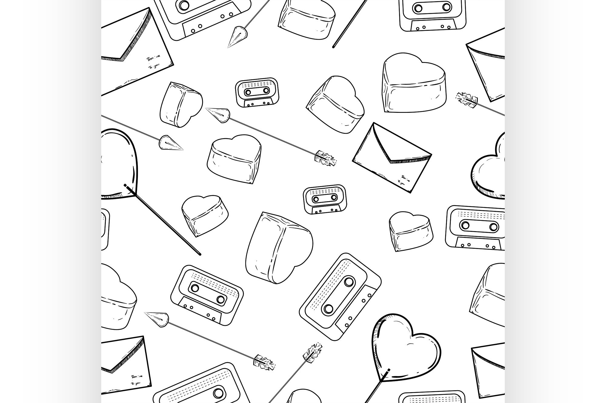 Seamless valentine pattern example image 1