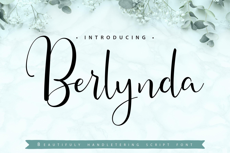 Berlynda | Handletering Script Font example image 1