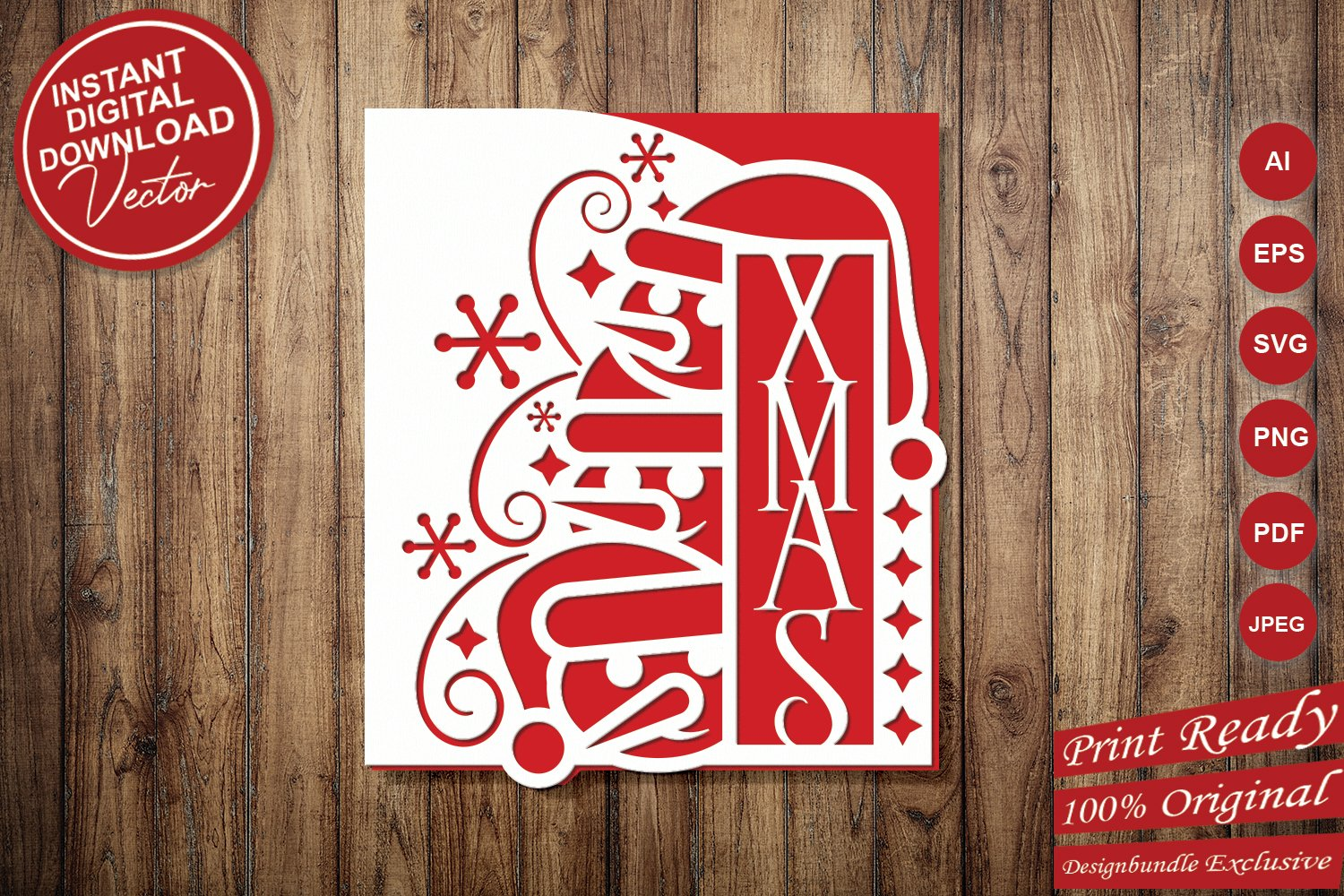 Papercut Christmas Snowman Card Cover, Snowflake, Spiral example image 5