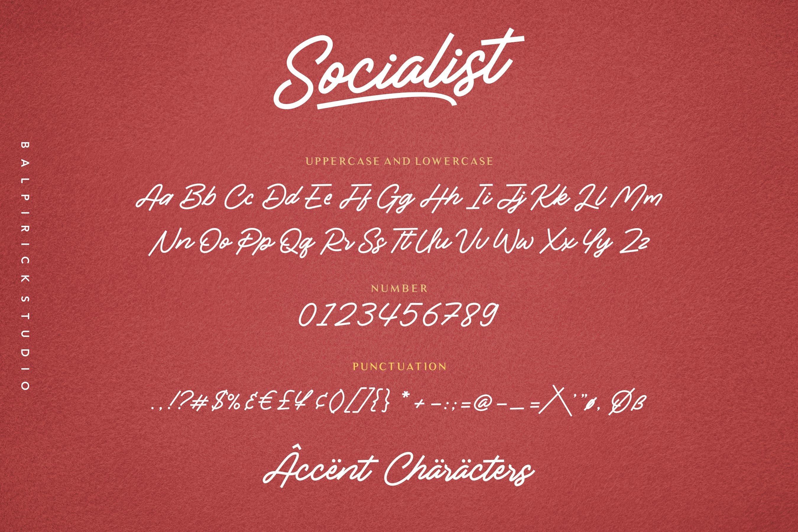 Socialist a Casual Monoline Font example image 6