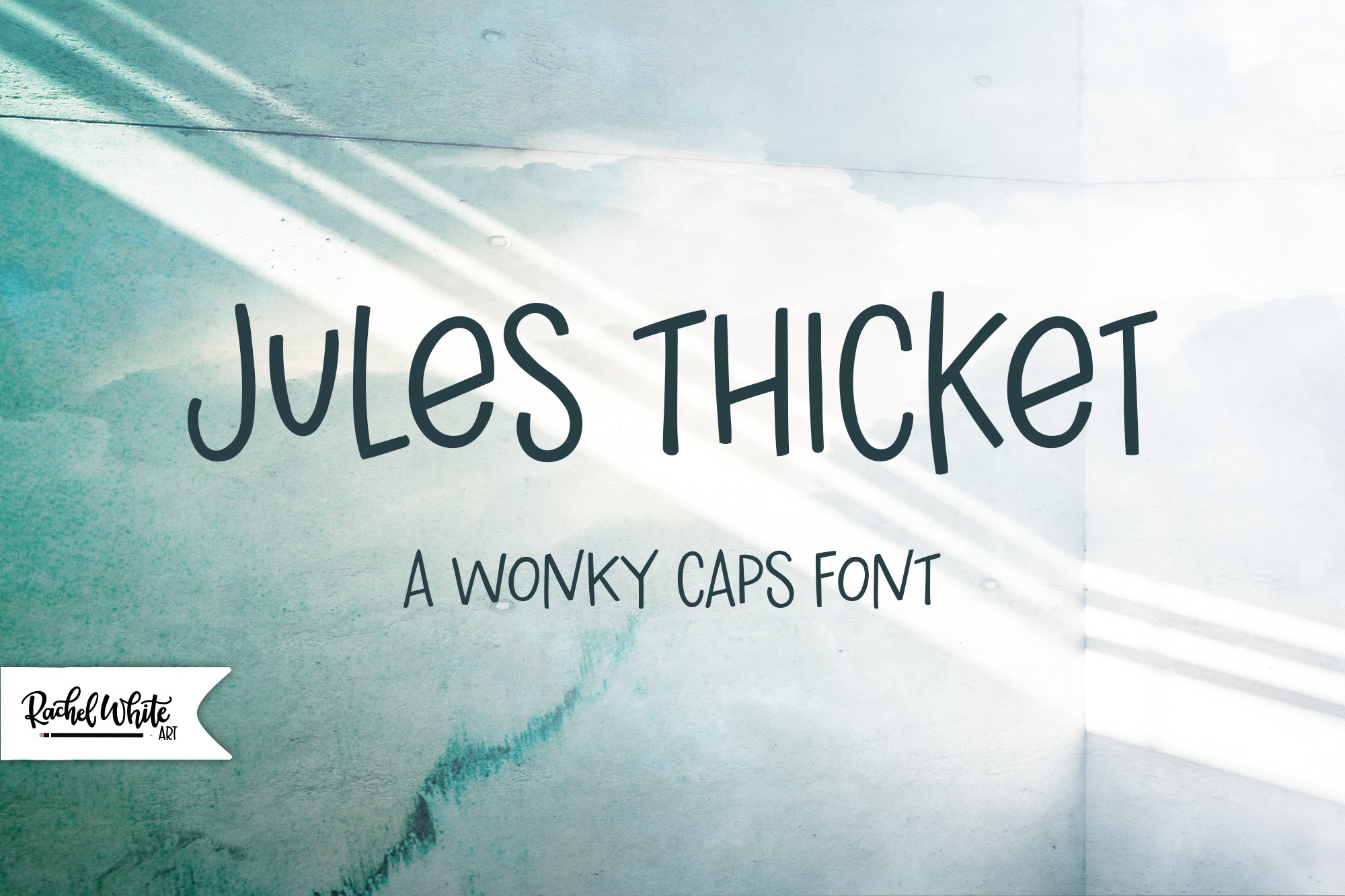 Jules Thicket, a wonky caps font example image 1