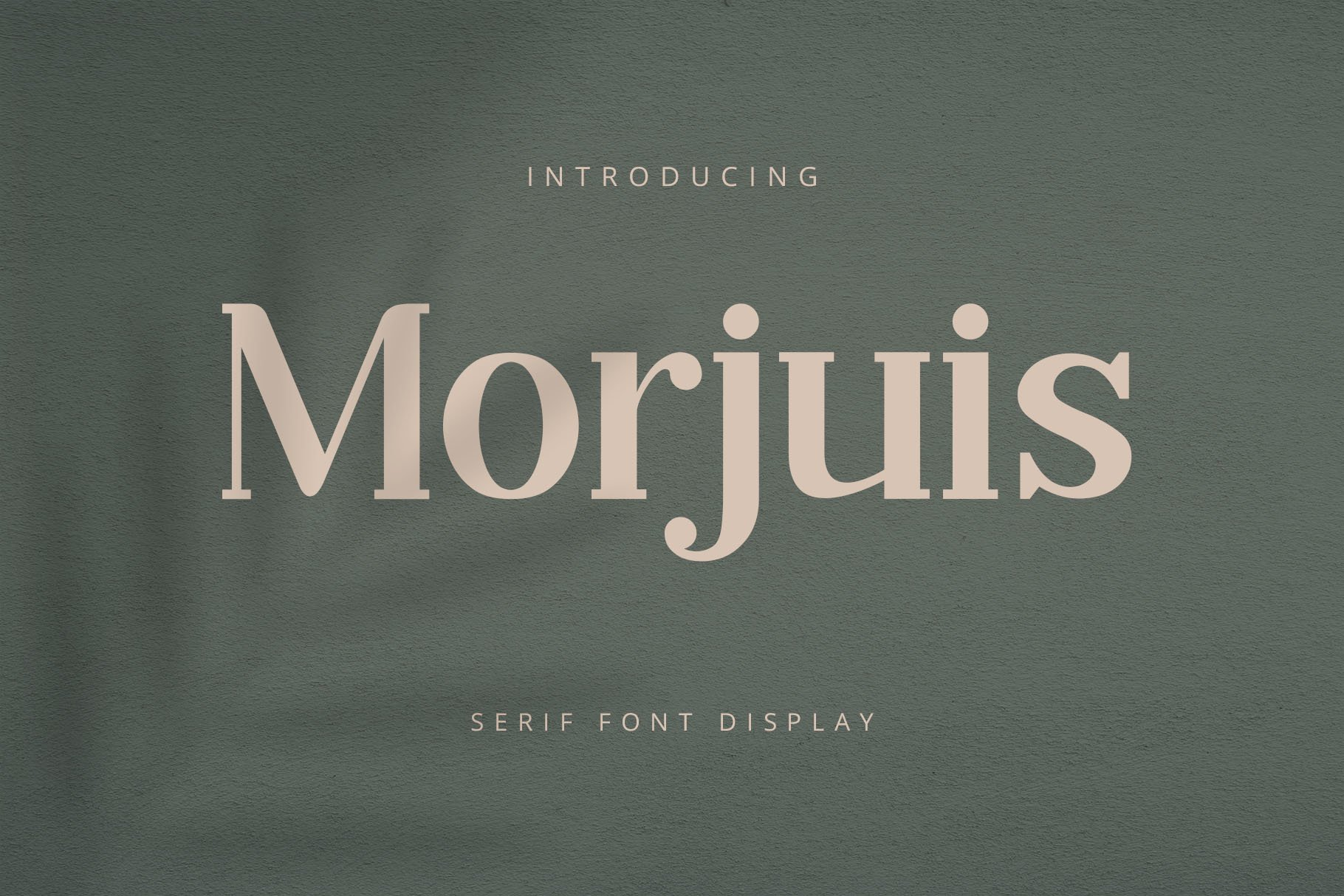 MORJUIS - Serif Font Typeface example image 1