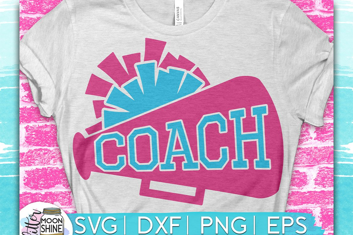 Cheerleading Coach SVG DXF PNG EPS Cutting Files example image 1