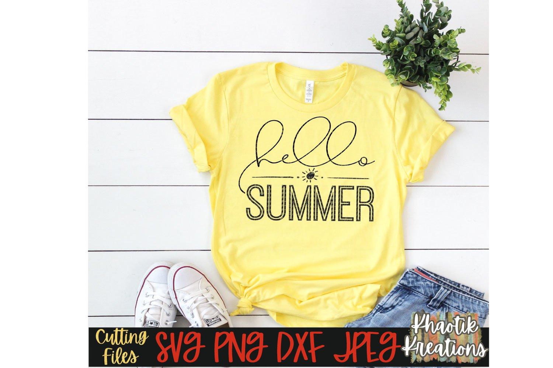 Hello Summer Svg Summer Svg Summer Time Svg Summer Quote 419773 Cut Files Design Bundles