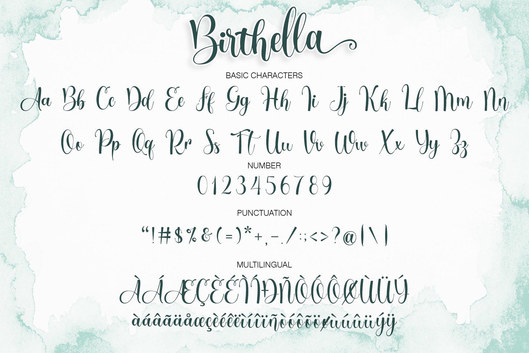Birthella || Modern Calligraphy example image 7