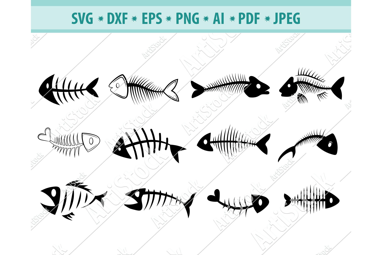 Download Fish Vector Image Fish Dxf Clipart Fish Bones Instant Download Fish Dxf File Fish Svg Dxf Png Fish Svg Skeleton Download Clip Art Art Collectibles Vadel Com