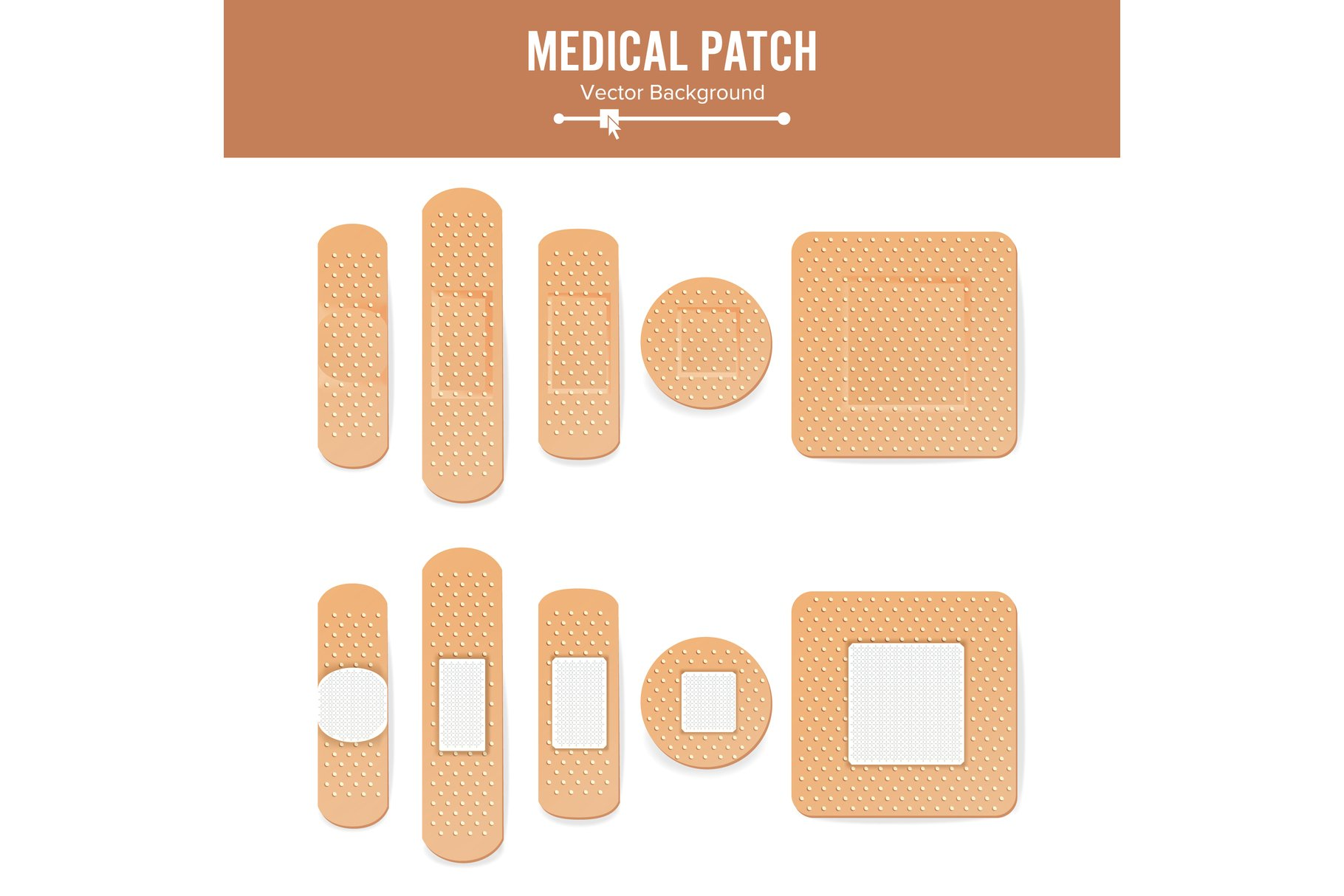Medical Patch Vector. Two Sides. example image 1