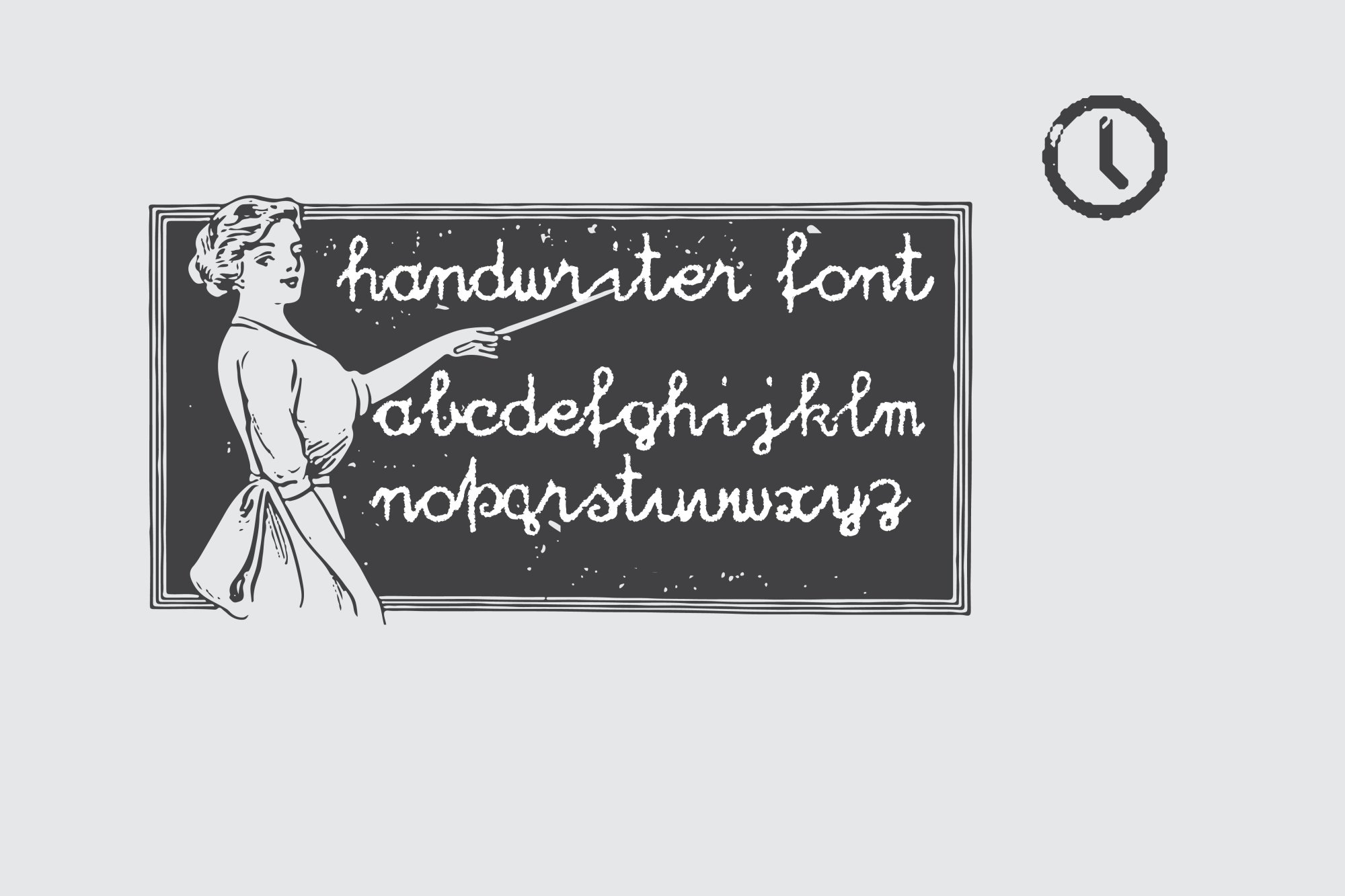 Vintage Pack-17 fonts and elements example image 2