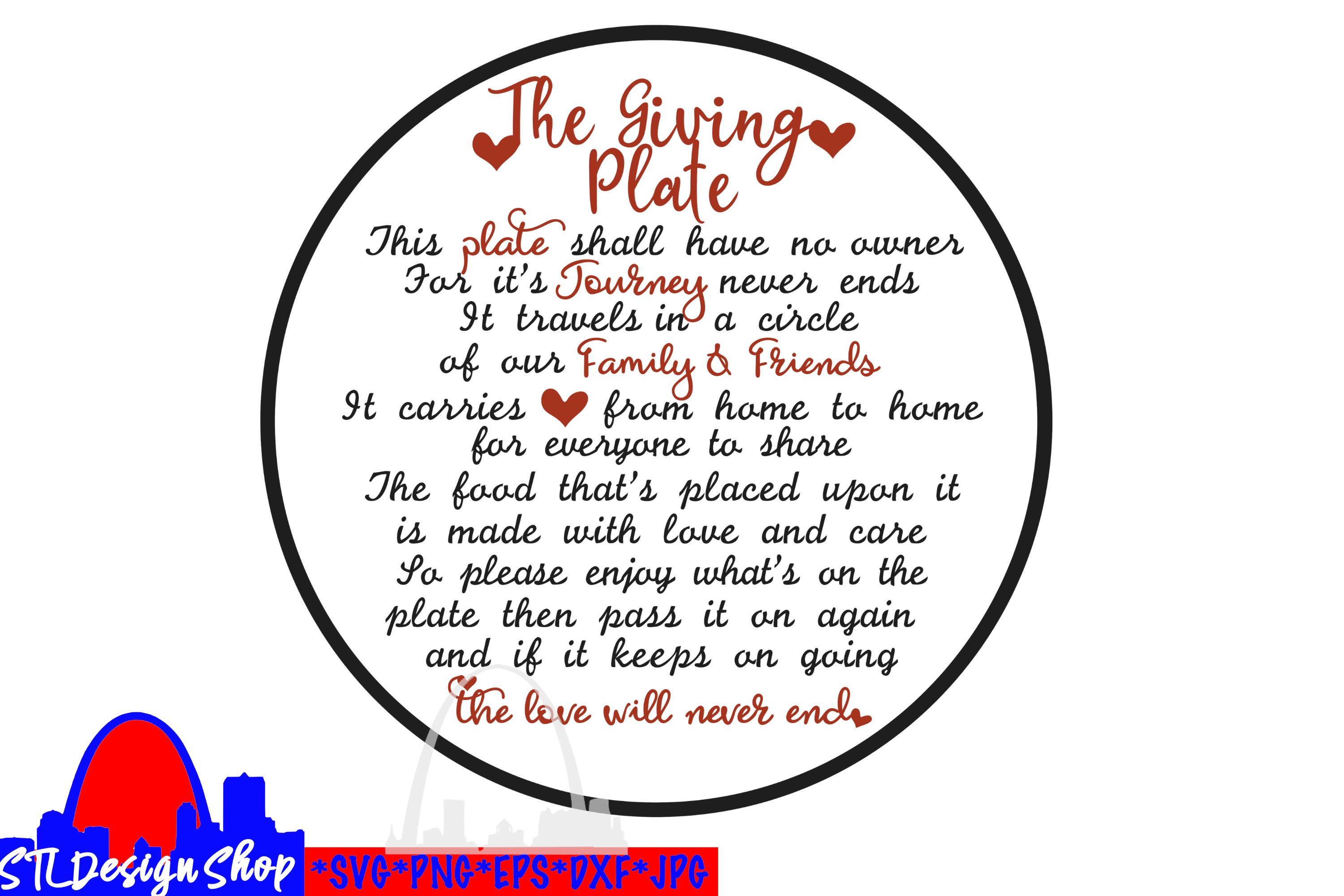 The Giving Plate Svg Png Sublimation Holiday Housewarming 958137 Cut Files Design Bundles