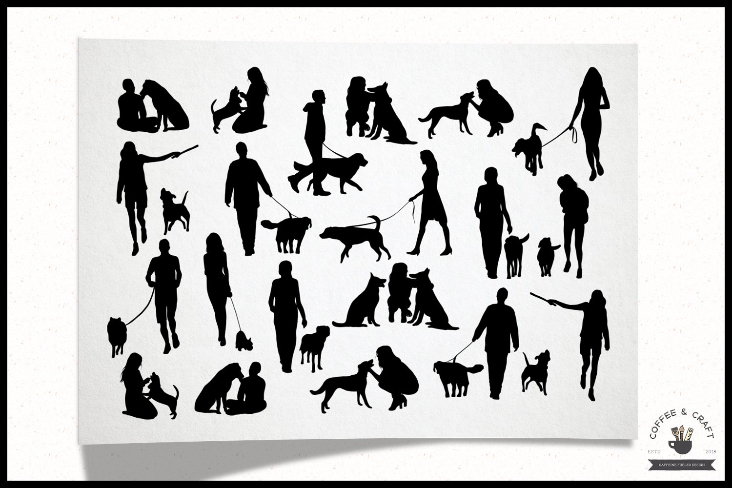 Dog owners clipart example image 5