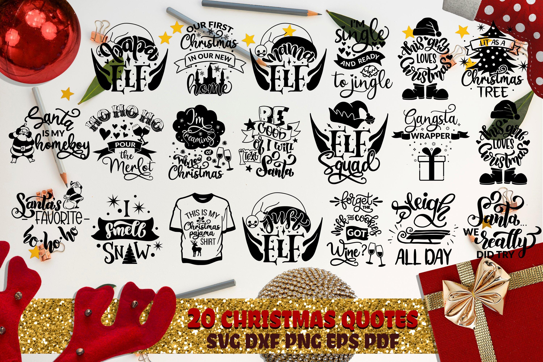 Christmas bundle svg vol 6 Winter QUOTES Elf Christmas tree