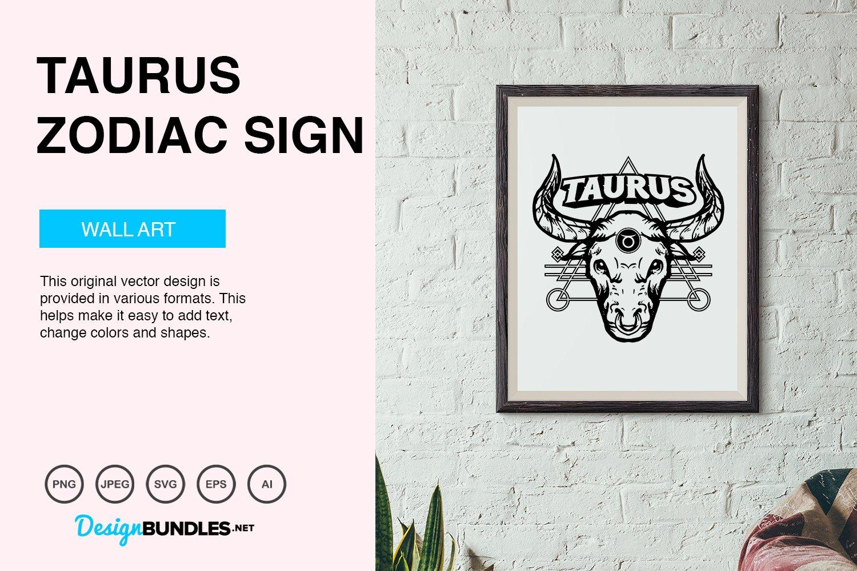 Taurus Zodiac Sign Vector Illustration example image 4