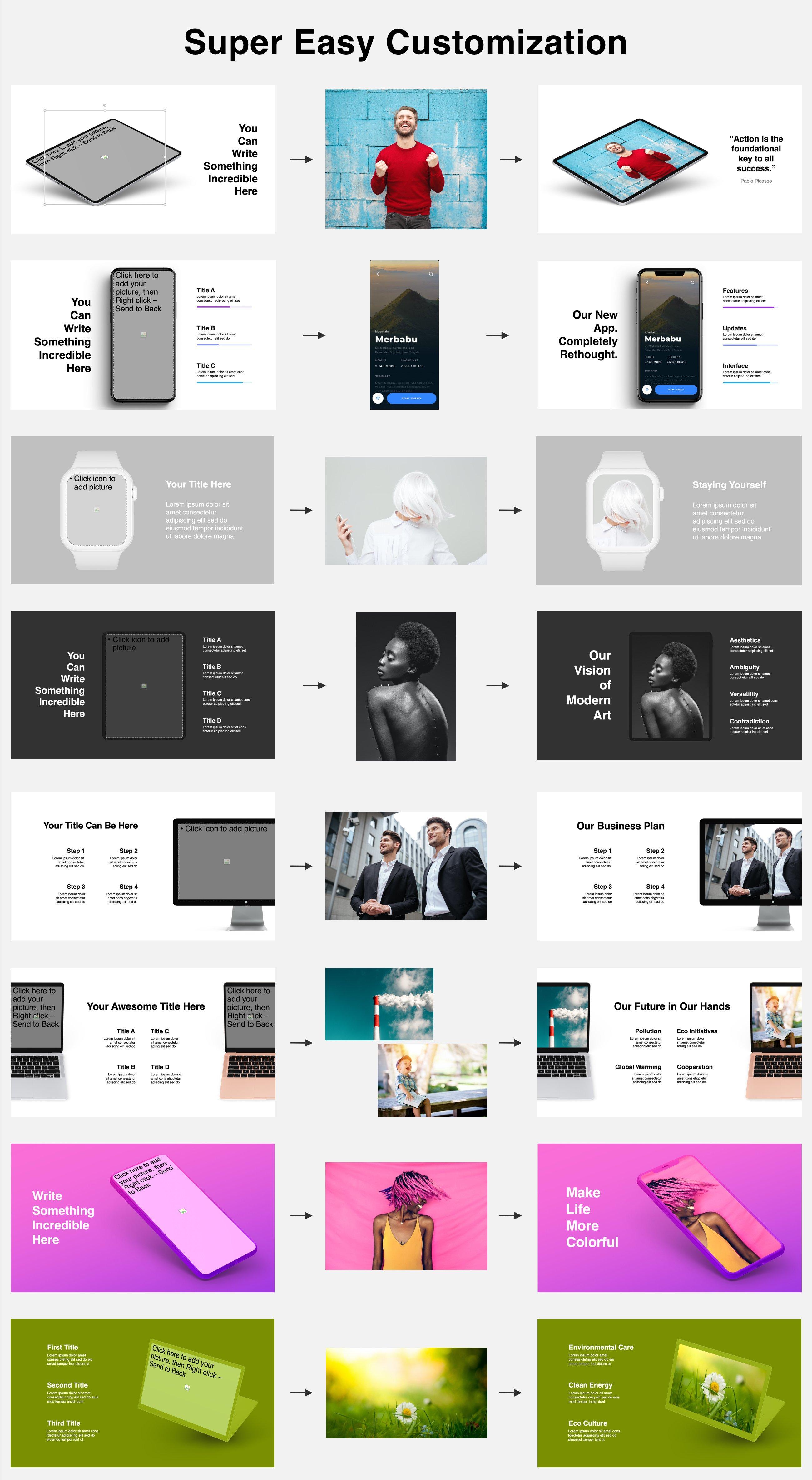 Animated Mockups Presentation Bundle. Infographic Templates. example image 2