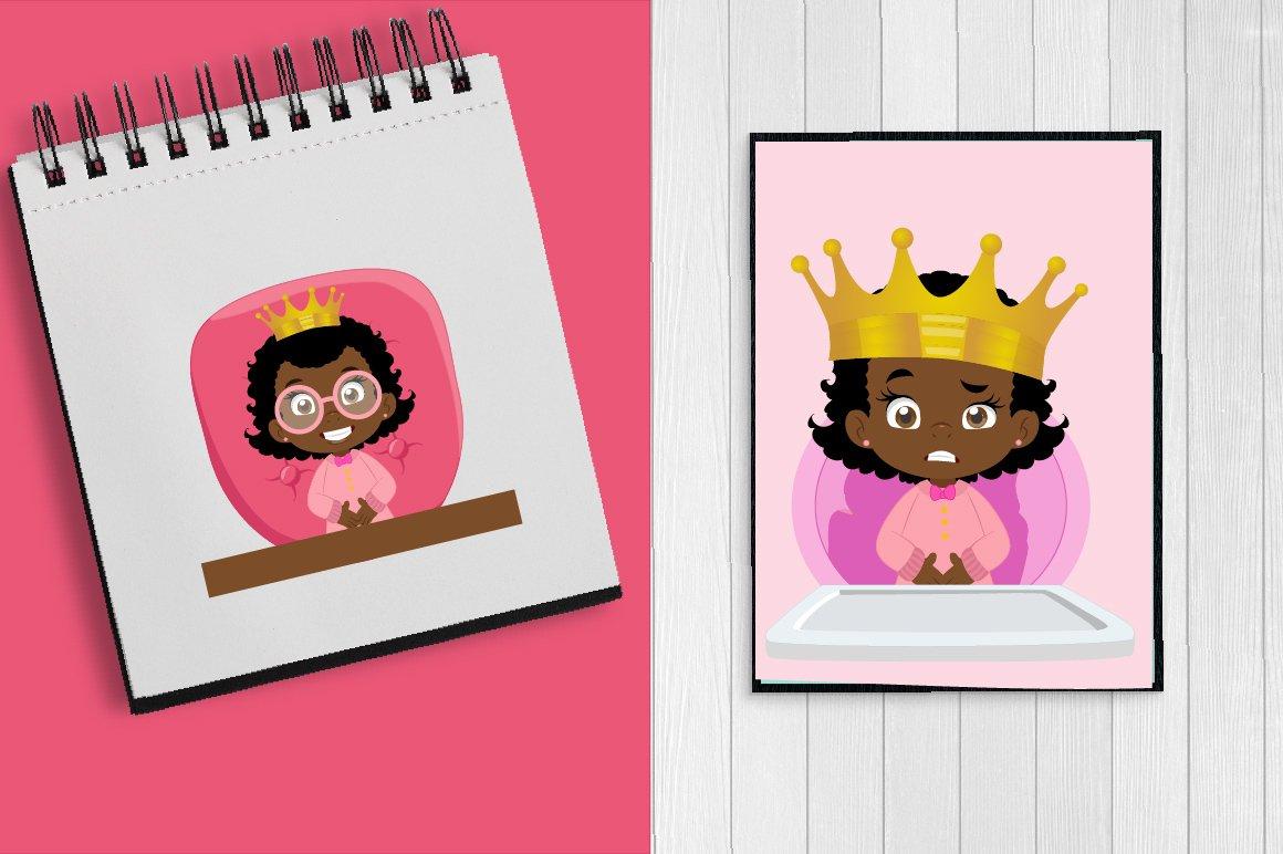 African American Baby queen clipart example image 5