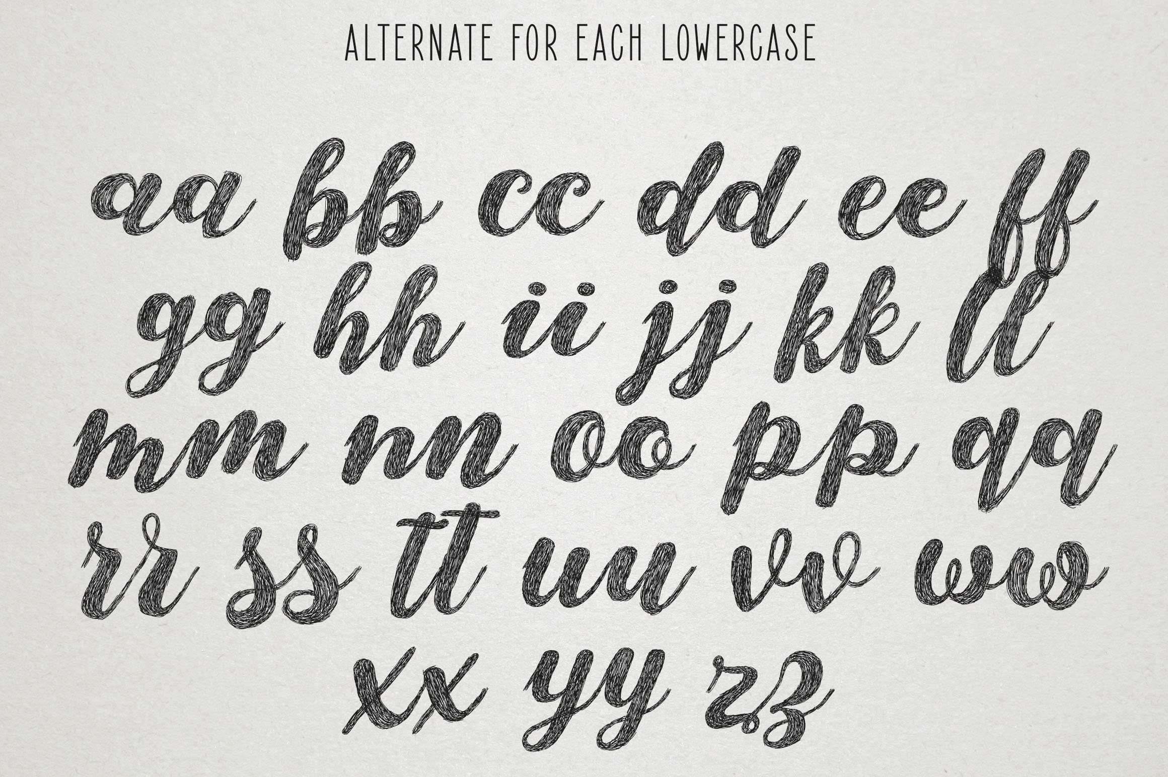 Monstere Script | Sketch Style example image 9