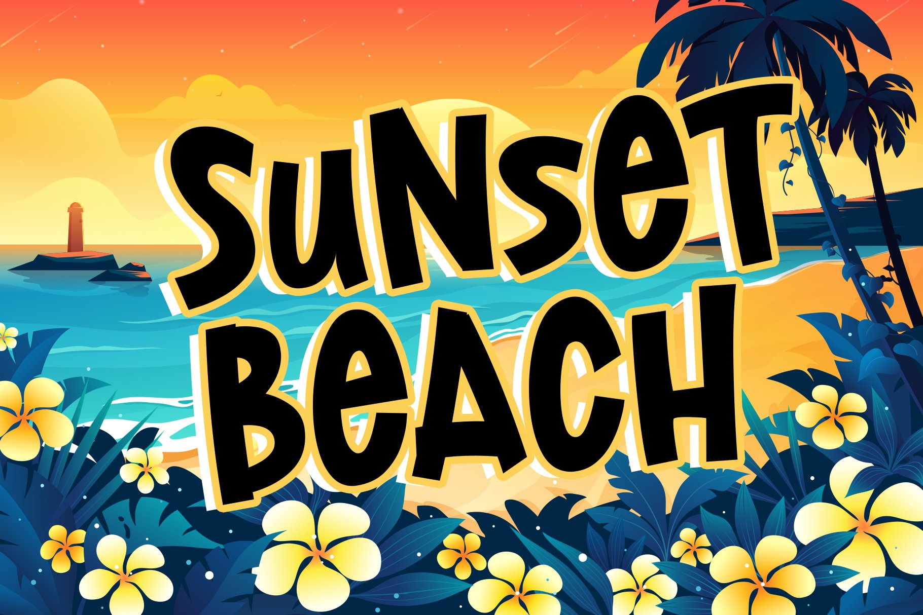 Lost Island - Summer Display Font example image 7