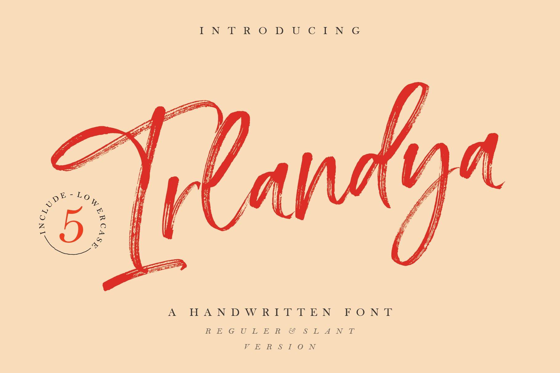 Irlandya - Handwritten font example image 1