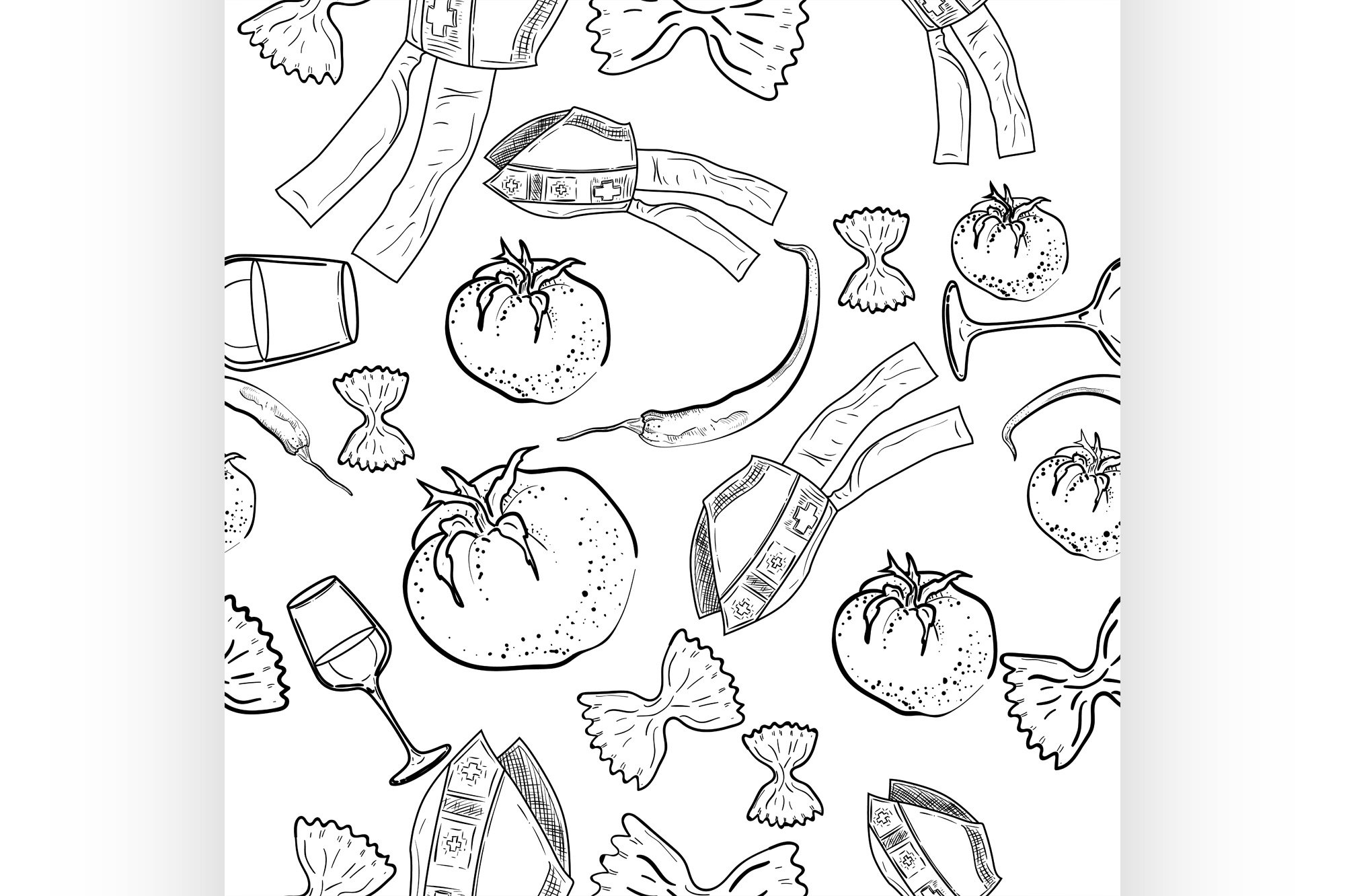 Seamless pattern of Italy example image 1