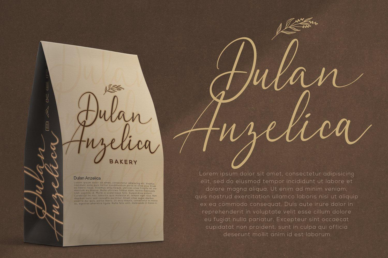 Dulan Anzelica - Signature Script Font example image 9