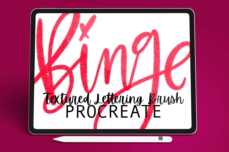 Procreate - Binge - Procreate Textured Lettering Brush example image 1