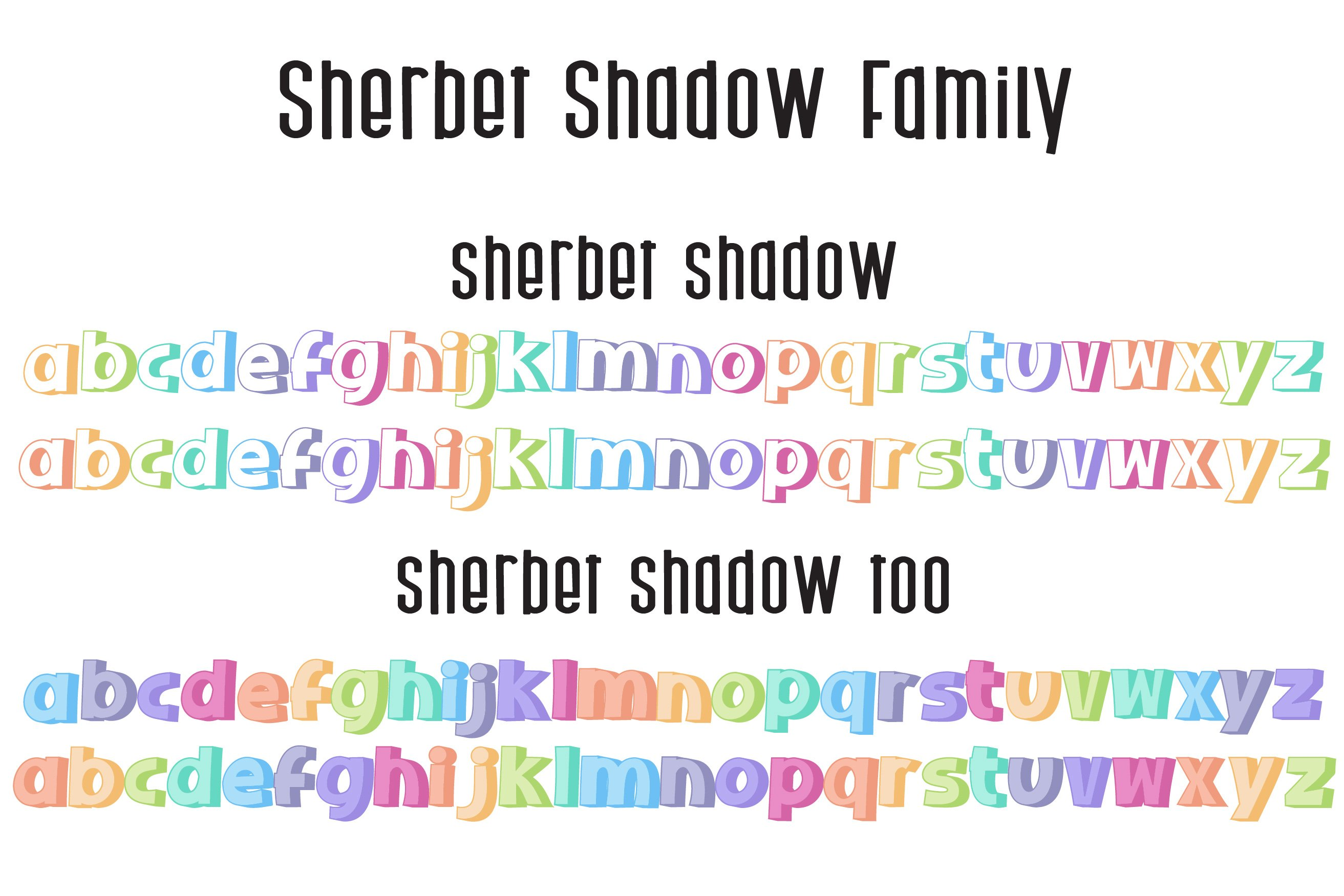 Sherbet Shadow SVG Font Duo example image 10