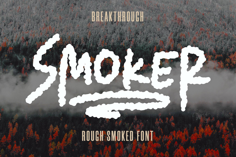 Smoker - Rough Smoked Font example image 1