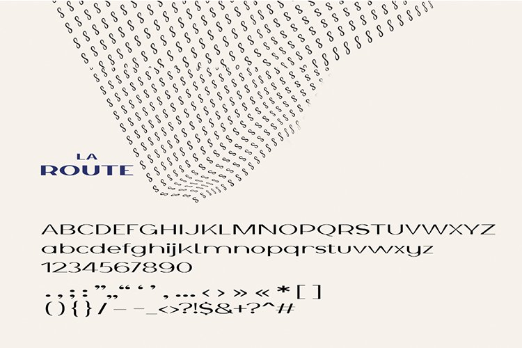 La Route Typeface example image 6