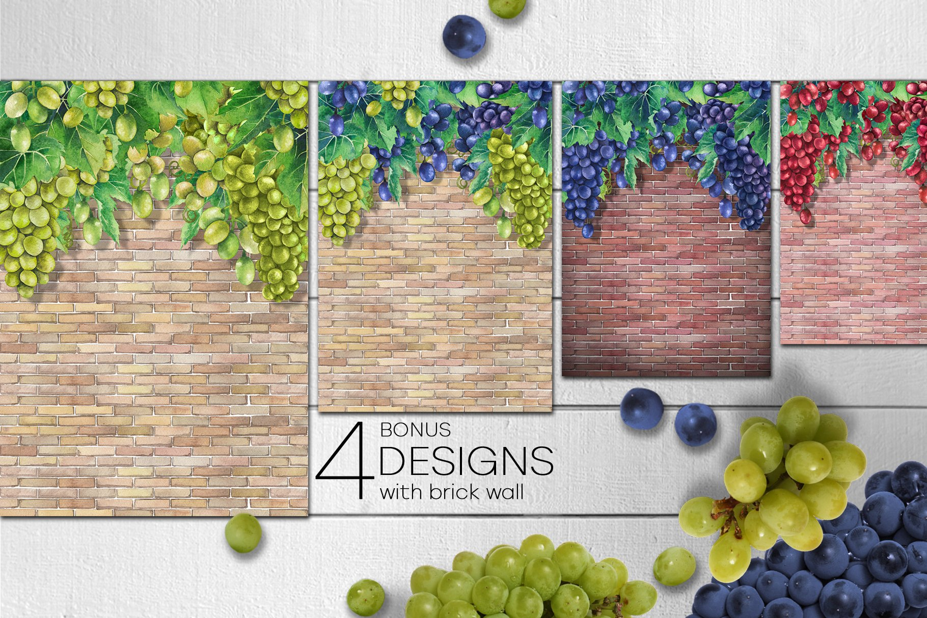 Watercolor Grapes example image 10