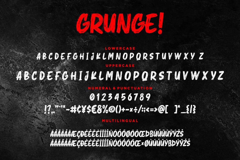 Grunge! Bold Brush Typeface example image 8