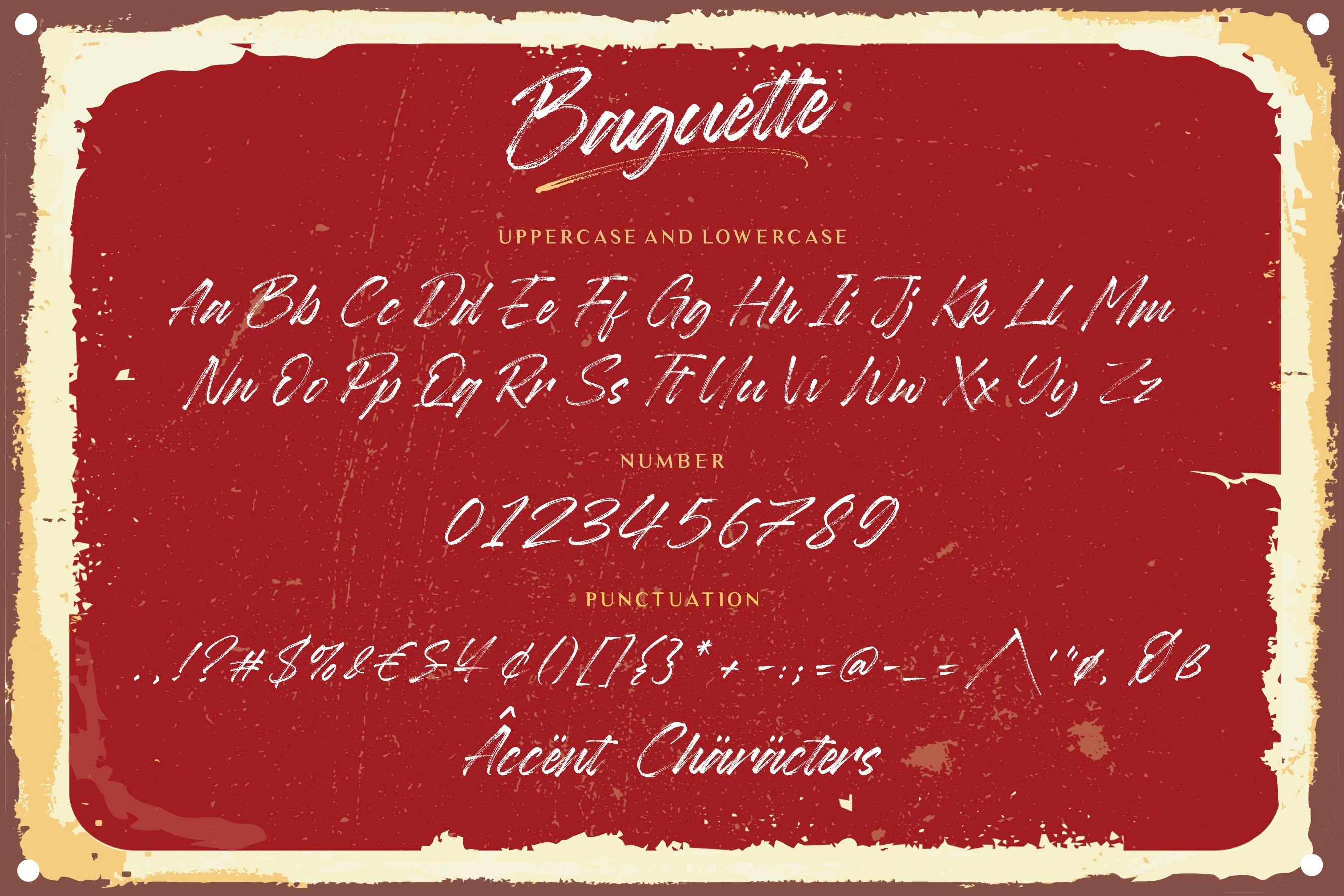 Baguette Natural Handbrushed Font example image 5