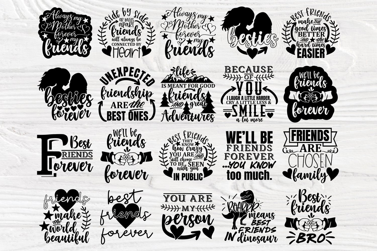 Friends Svg Cut Files, Friendship Svg Bundle, Shirt Designs example image 3