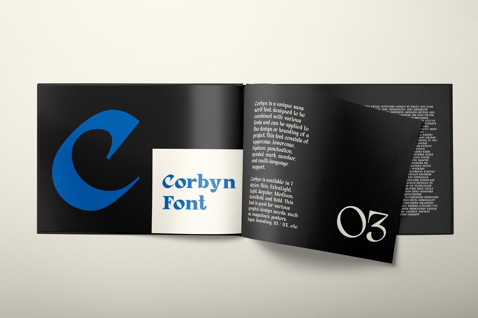 Corbyn Serif example image 8