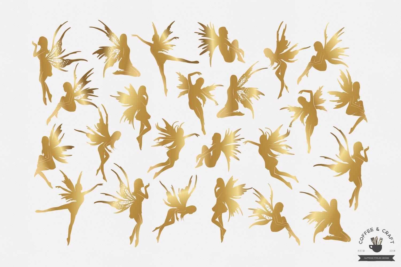 Fairies silhouettes set example image 3