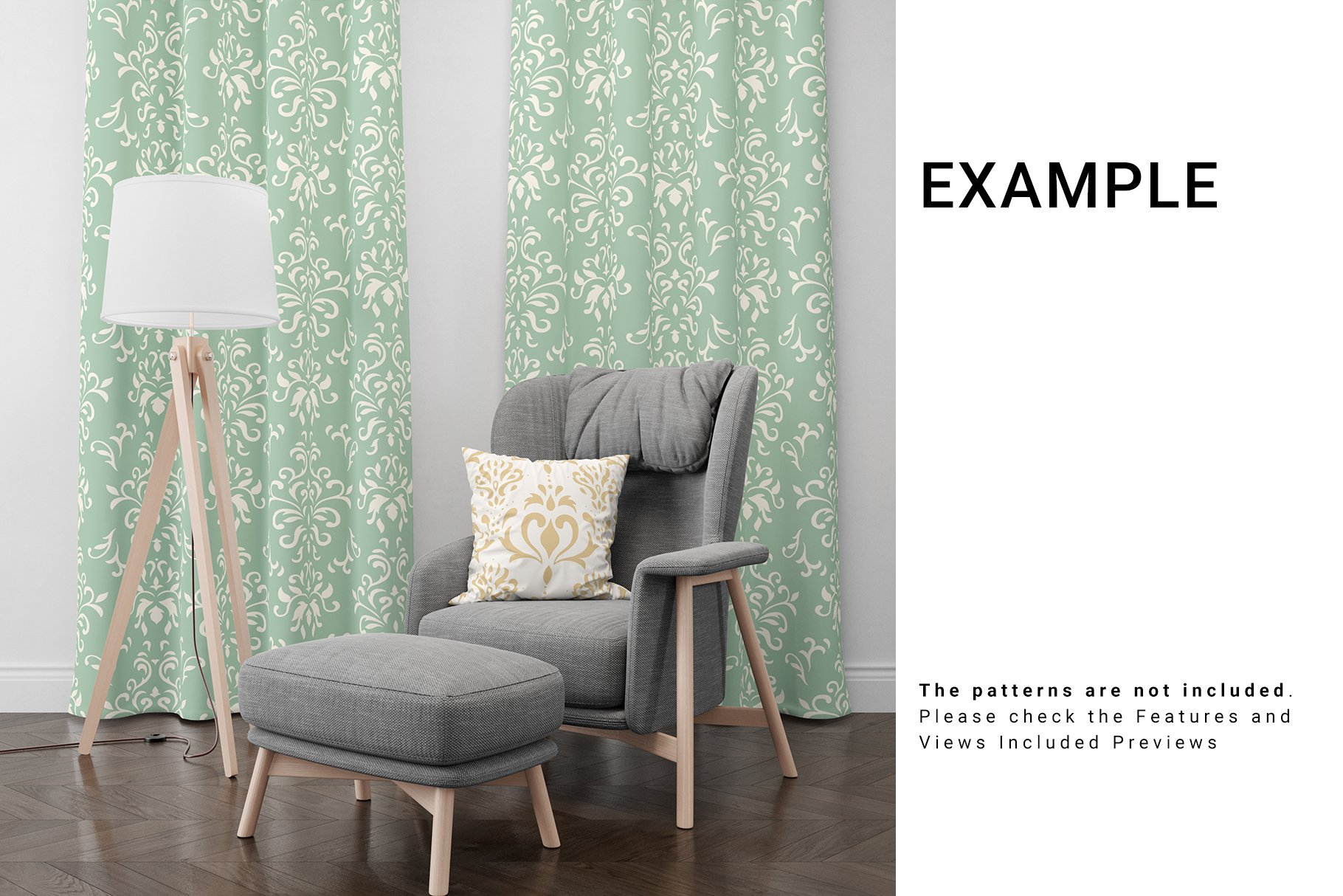 Curtains and Pillow Set example image 8