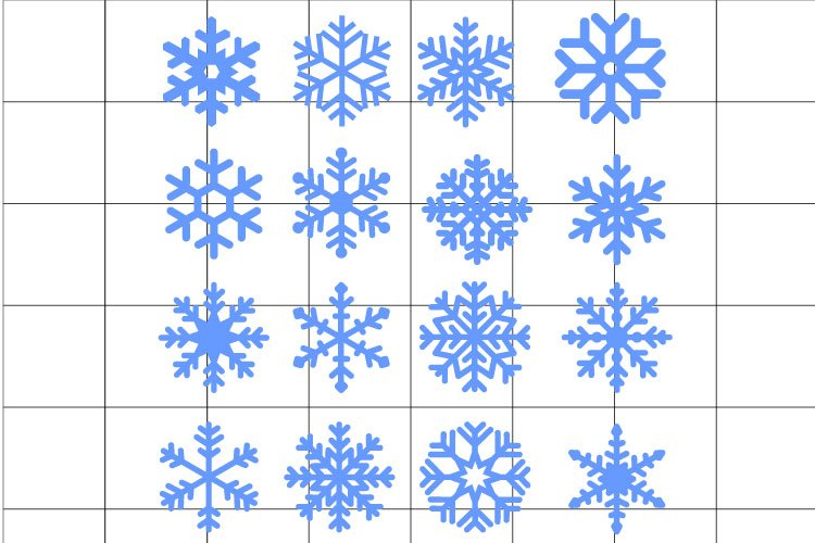 Snowflake SVG set for cut example image 1