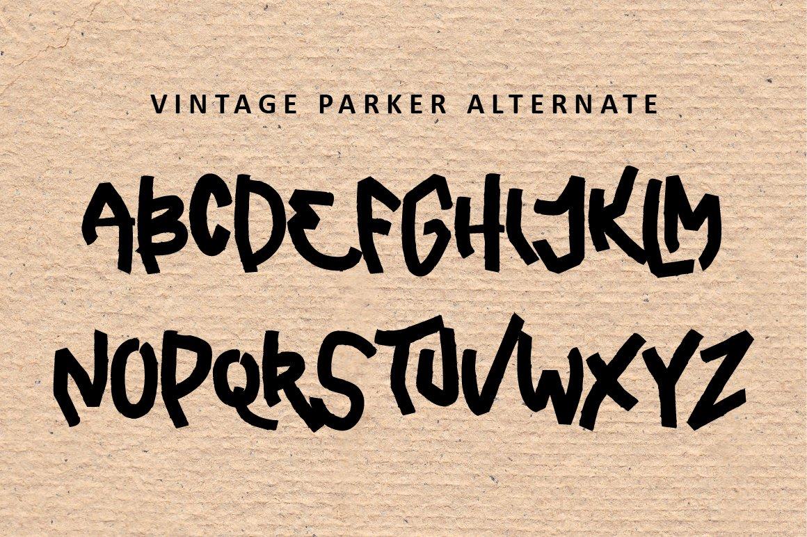 Vintage Parker - Brush Font example image 6