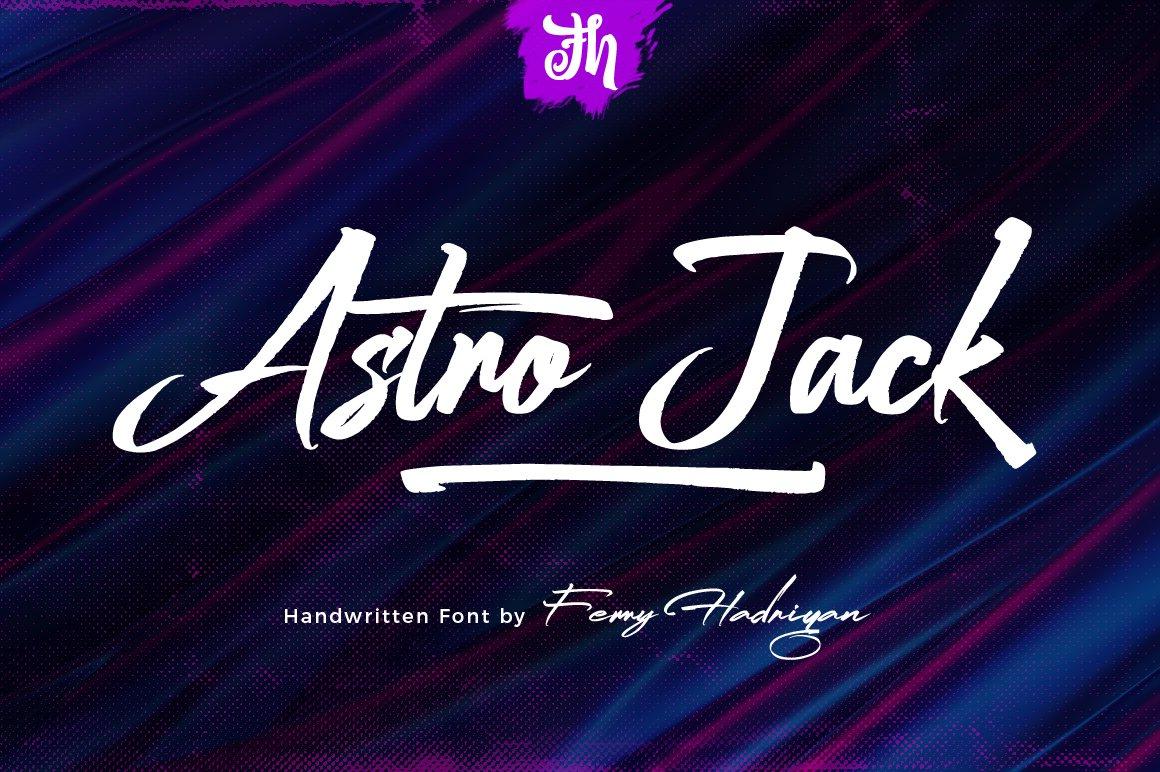 Astro Jack - Handwritten Font example image 1